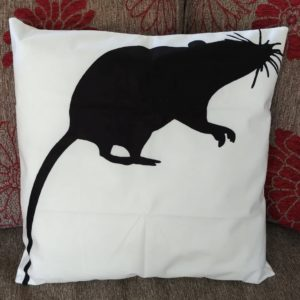 cushion cover black rat